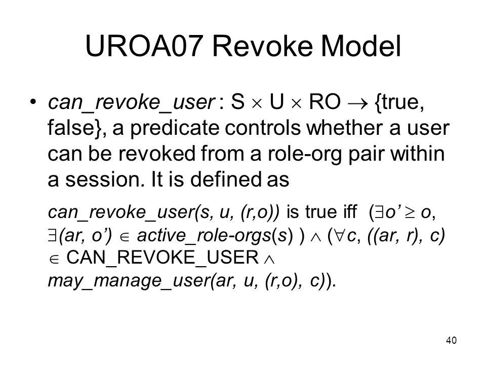 UROA07 Revoke Model