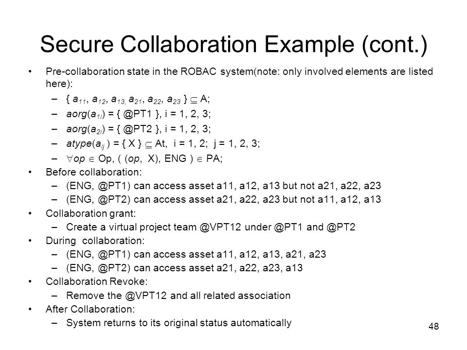 Secure Collaboration Example (cont.)