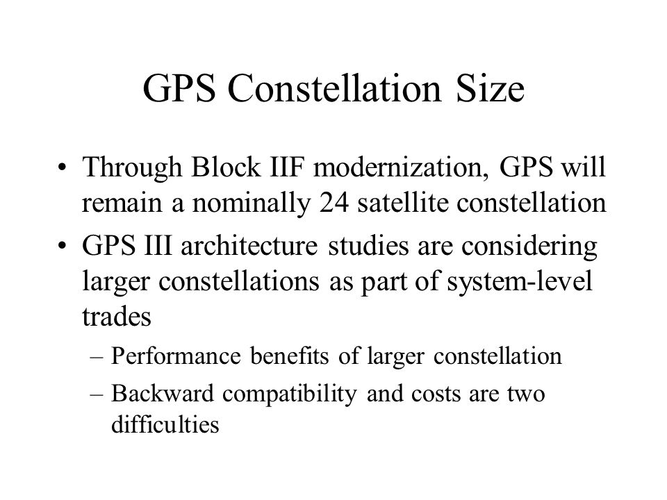 GPS Constellation Size