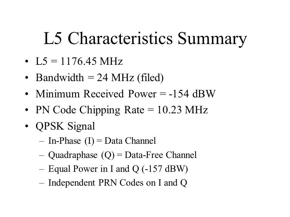 L5 Characteristics Summary