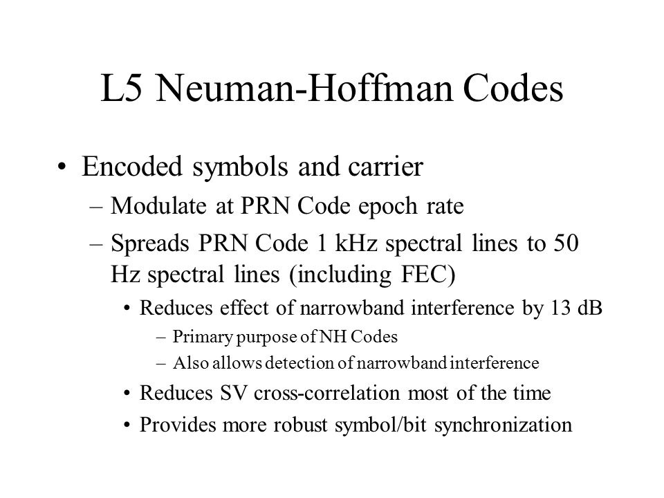 L5 Neuman-Hoffman Codes