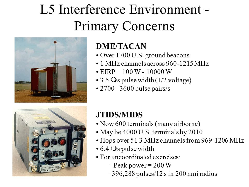 L5 Interference Environment - Primary Concerns