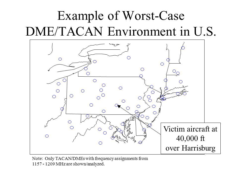 Example of Worst-Case DME/TACAN Environment in U.S.