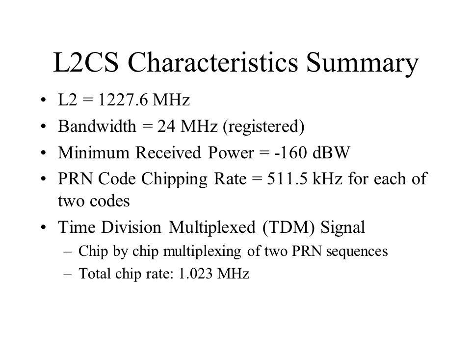 L2CS Characteristics Summary