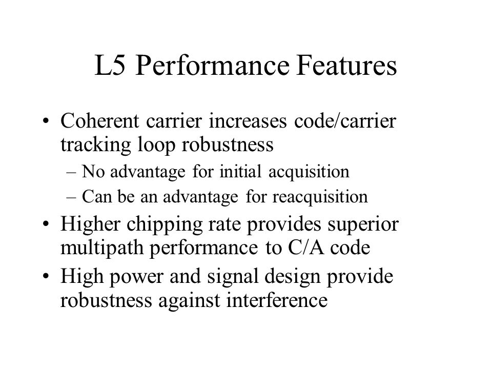 L5 Performance Features