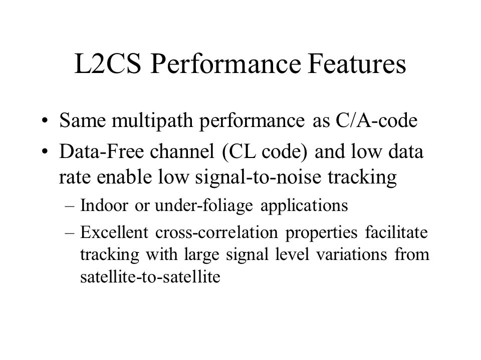 L2CS Performance Features