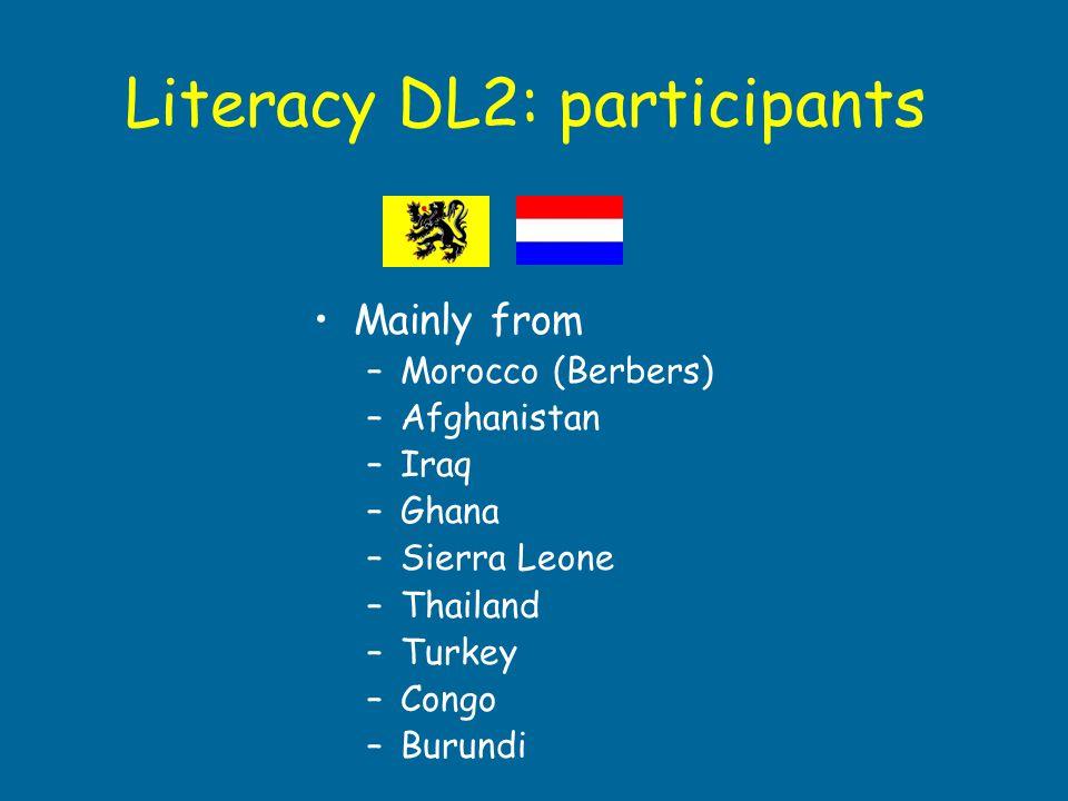 Literacy DL2: participants