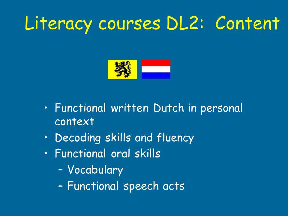 Literacy courses DL2: Content
