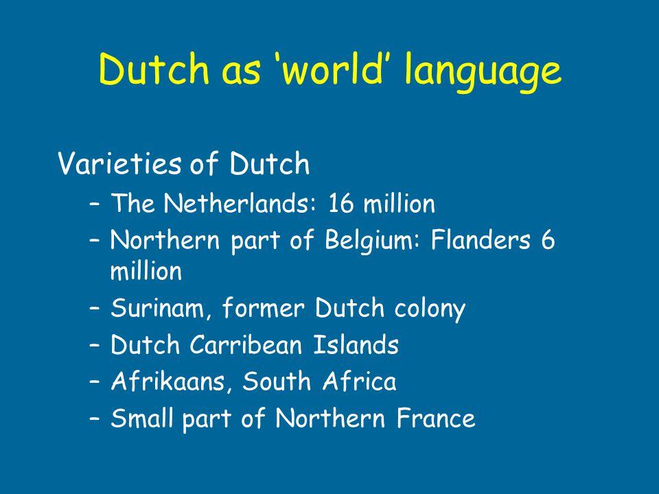 Dutch as 'world' language