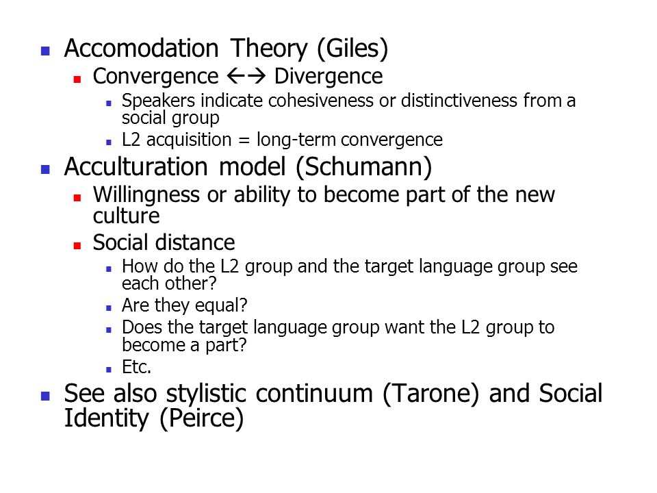 Accomodation Theory (Giles)
