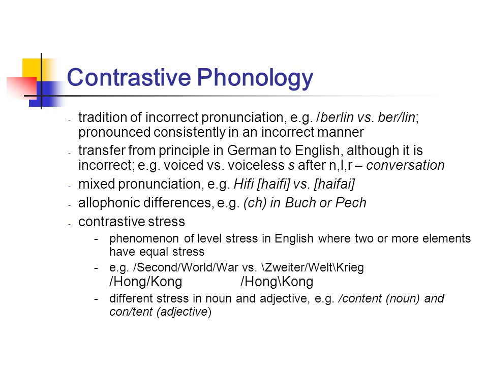 Contrastive Phonology