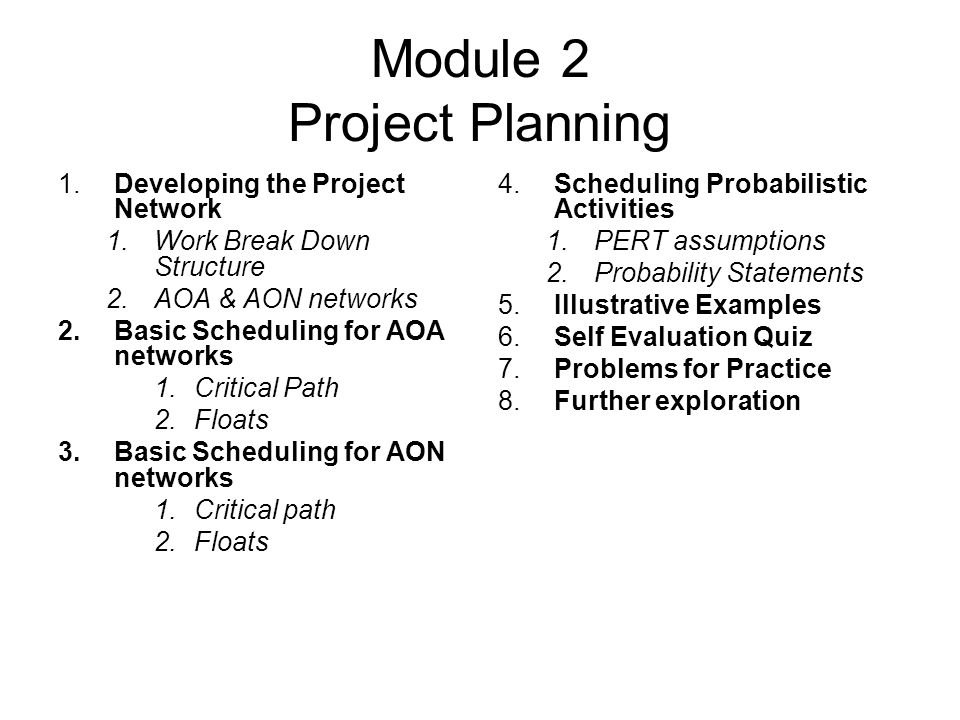 Module 2 Project Planning
