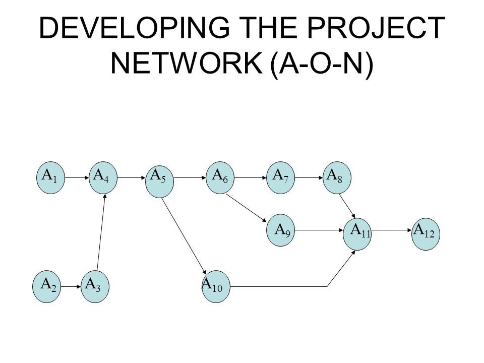 DEVELOPING THE PROJECT NETWORK (A-O-N)