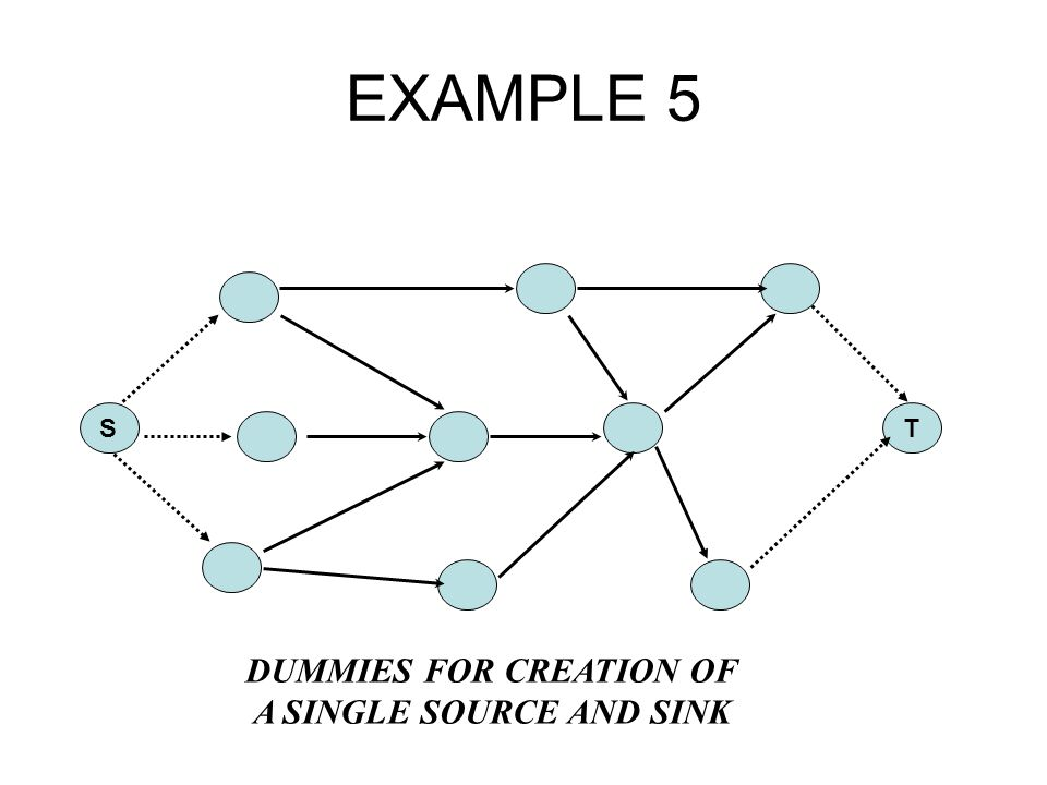 EXAMPLE 5 S T DUMMIES FOR CREATION OF A SINGLE SOURCE AND SINK