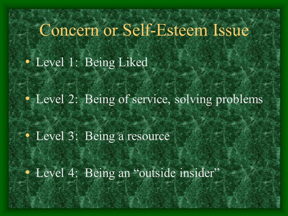 Concern or Self-Esteem Issue