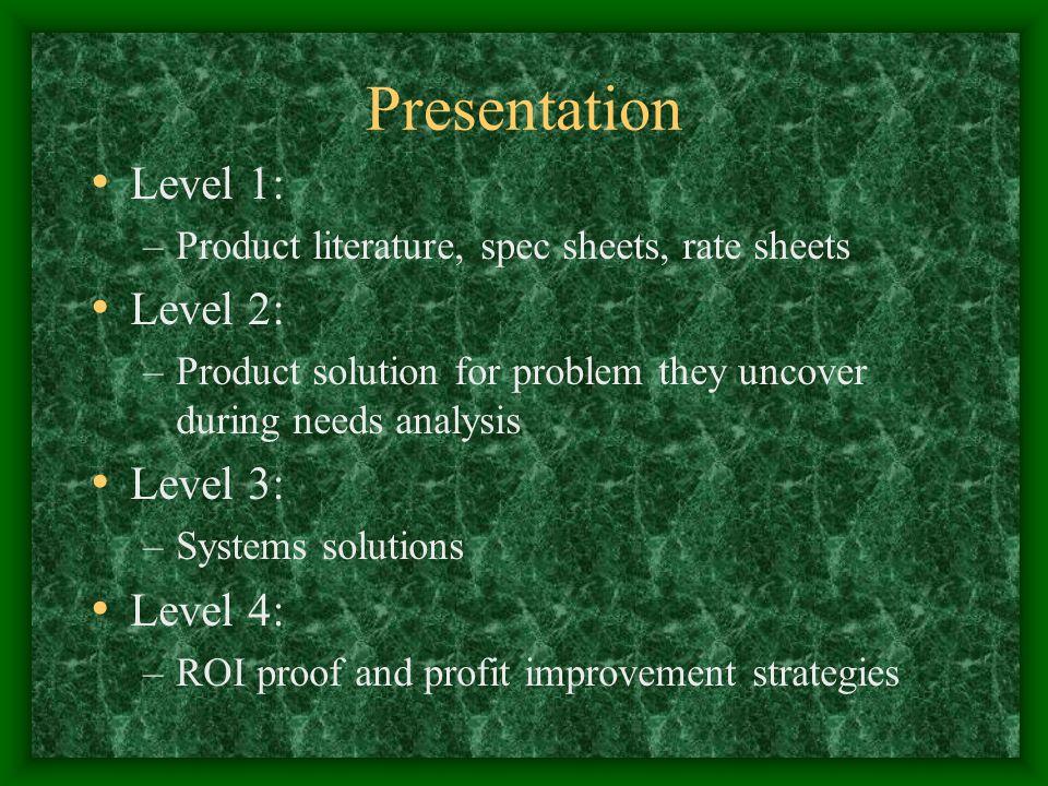 Presentation Level 1: Level 2: Level 3: Level 4: