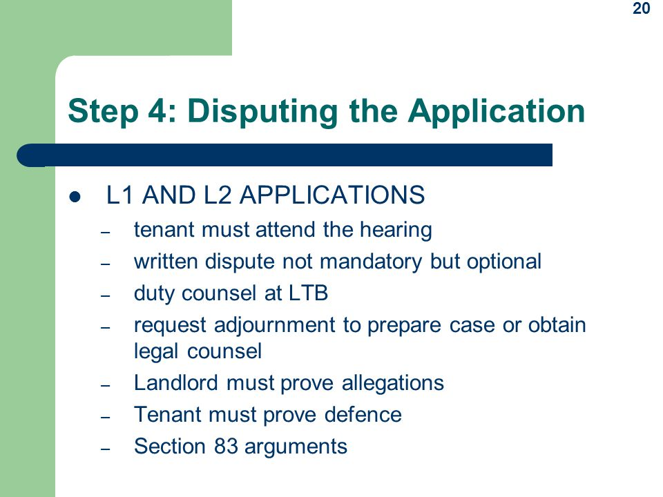 Step 4: Disputing the Application