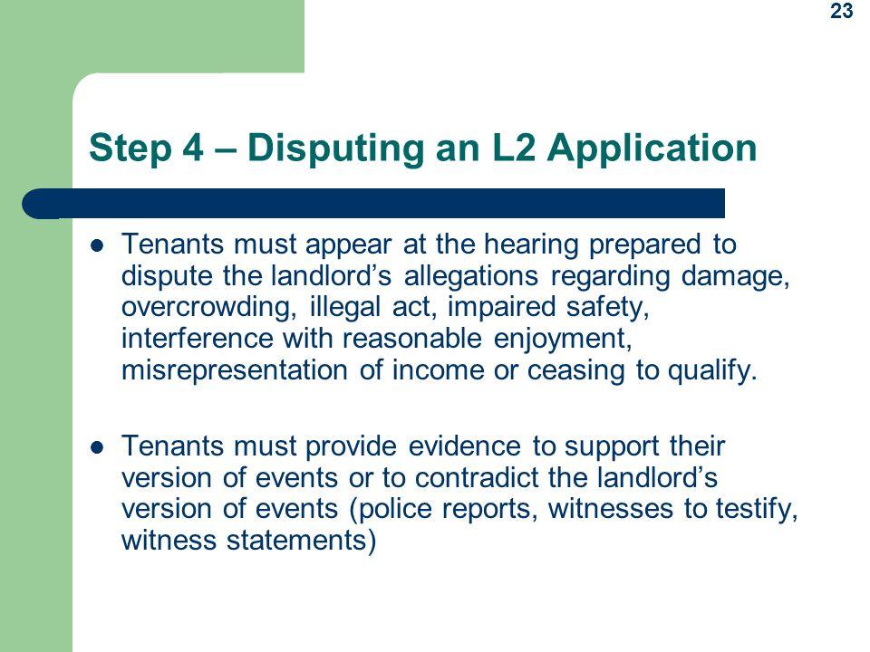 Step 4 – Disputing an L2 Application
