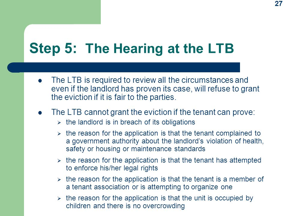 Step 5: The Hearing at the LTB