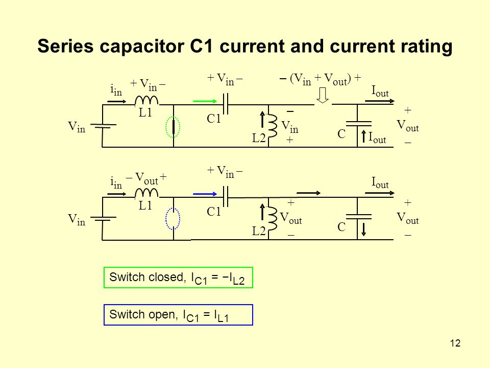 Series capacitor C1 current and current rating