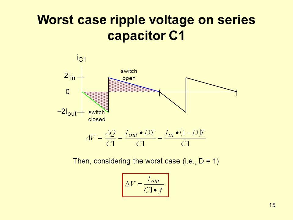 Worst case ripple voltage on series capacitor C1