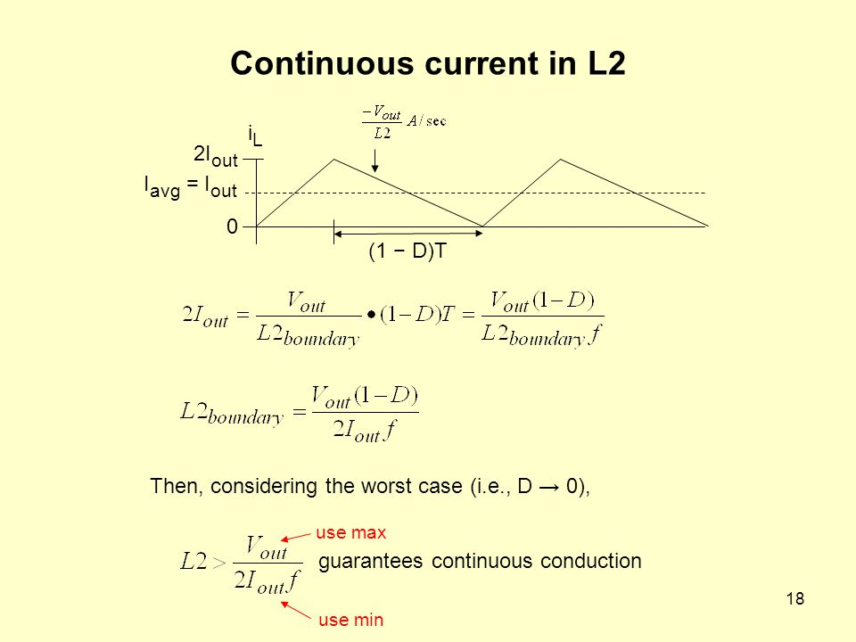 Continuous current in L2