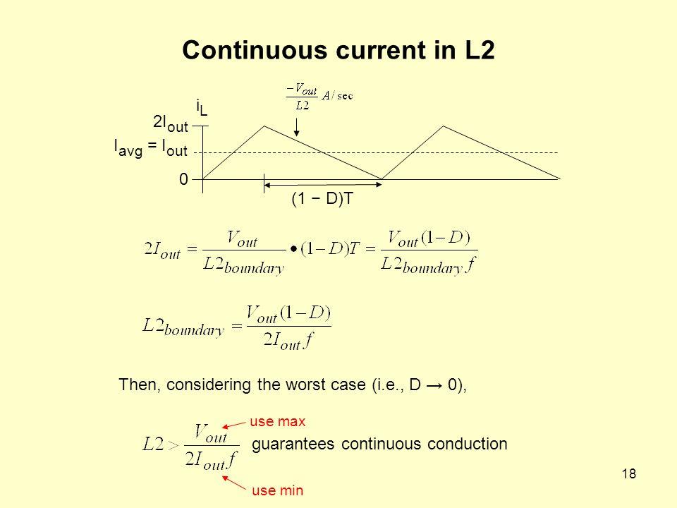 Continuous current in L2