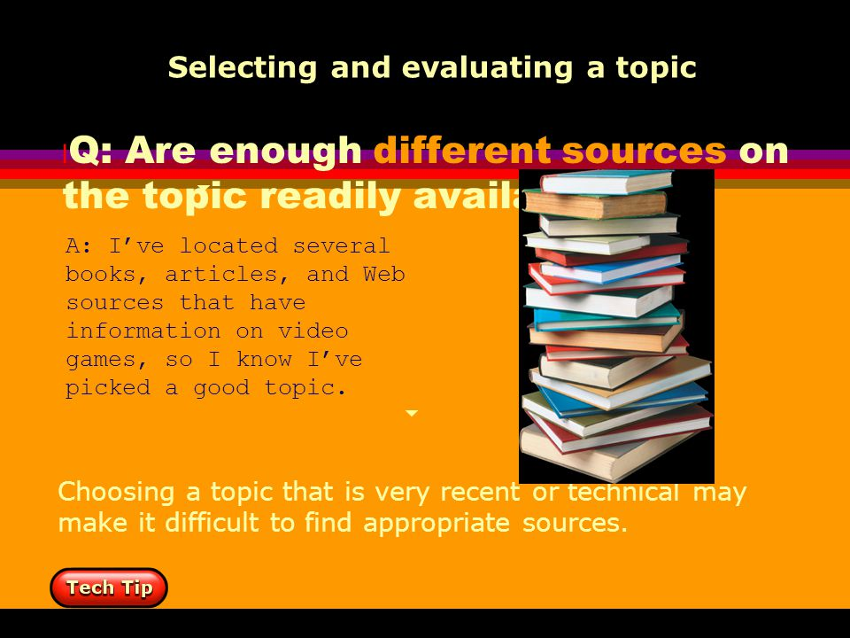 how to find a good research topic