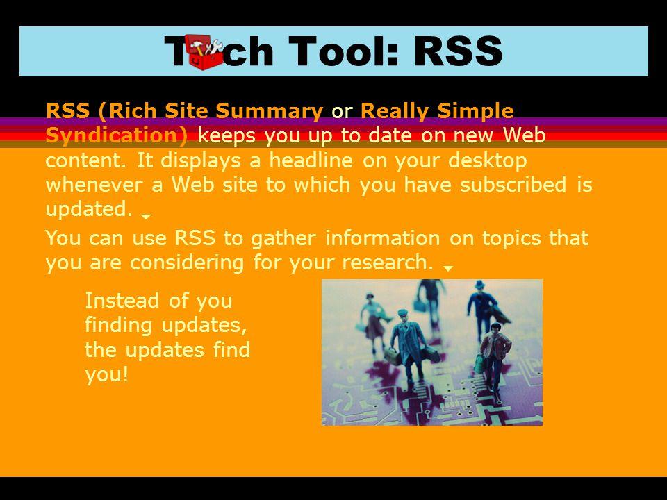 Tech Tool: RSS