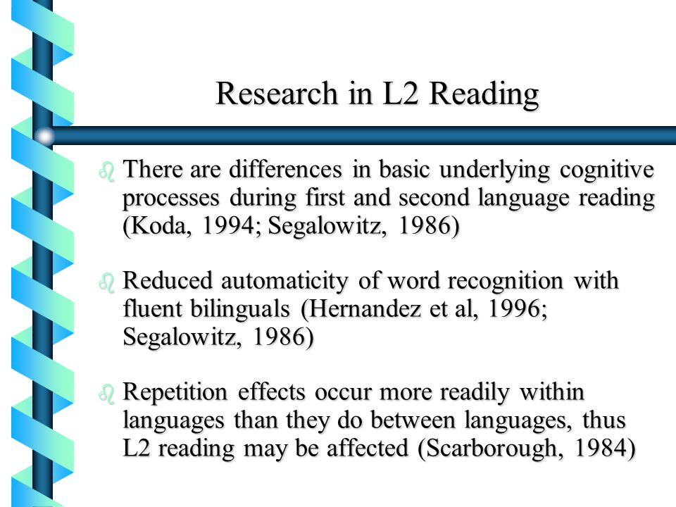 Research in L2 Reading