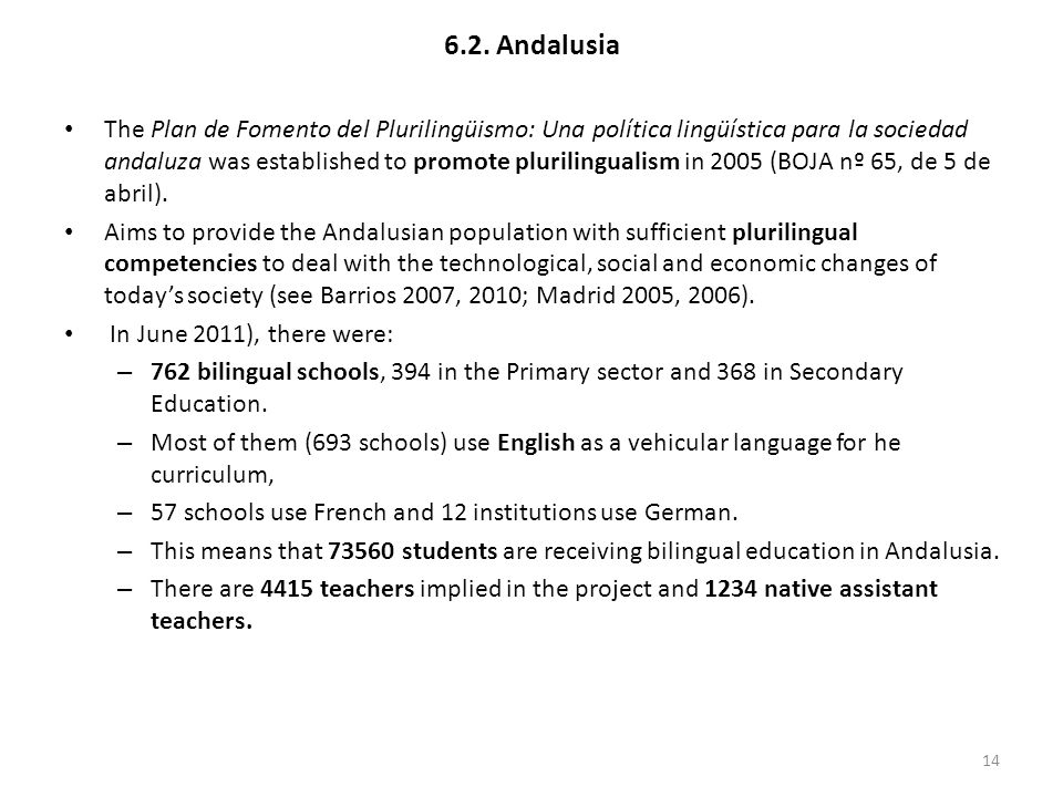 6.2. Andalusia