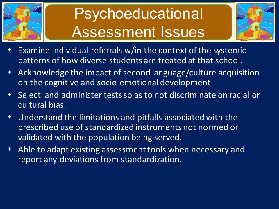 Psychoeducational Assessment Issues