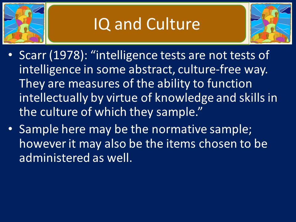 IQ and Culture