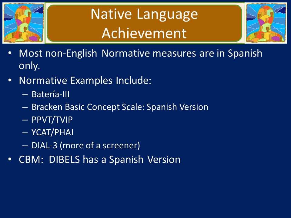 Native Language Achievement