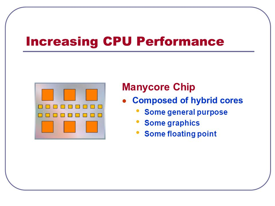 Increasing CPU Performance