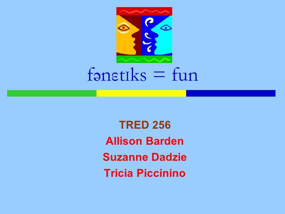 TRED 256 Allison Barden Suzanne Dadzie Tricia Piccinino