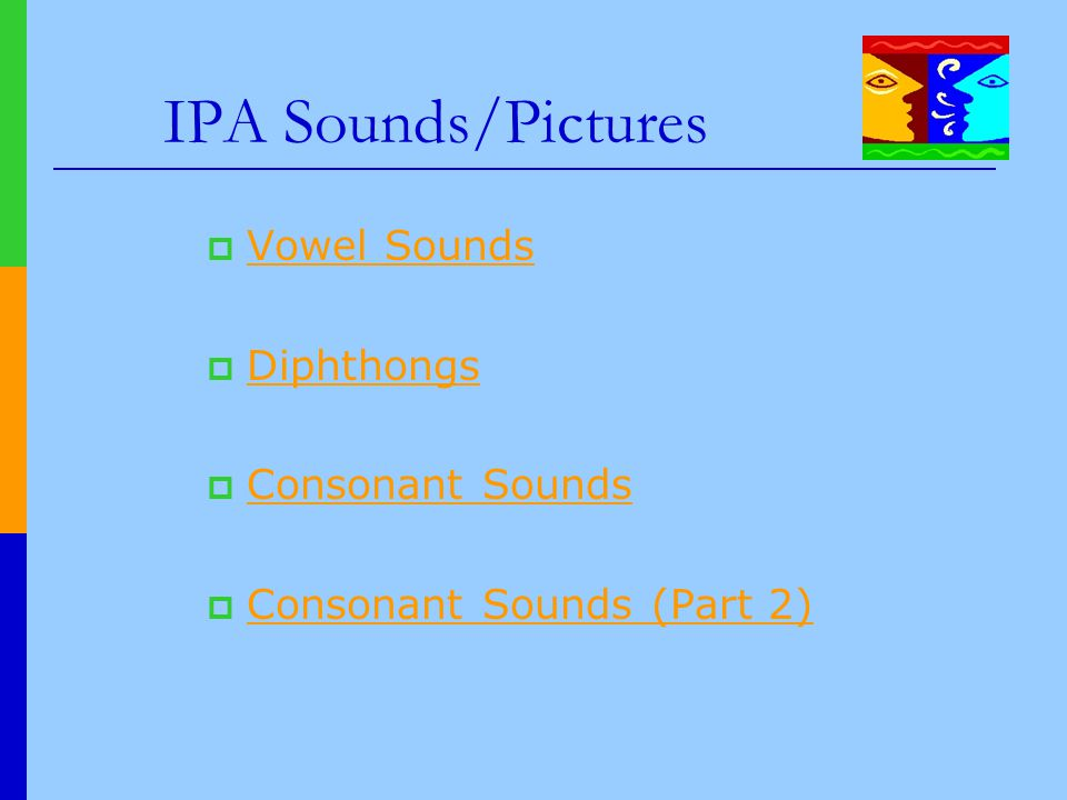 IPA Sounds/Pictures Vowel Sounds Diphthongs Consonant Sounds