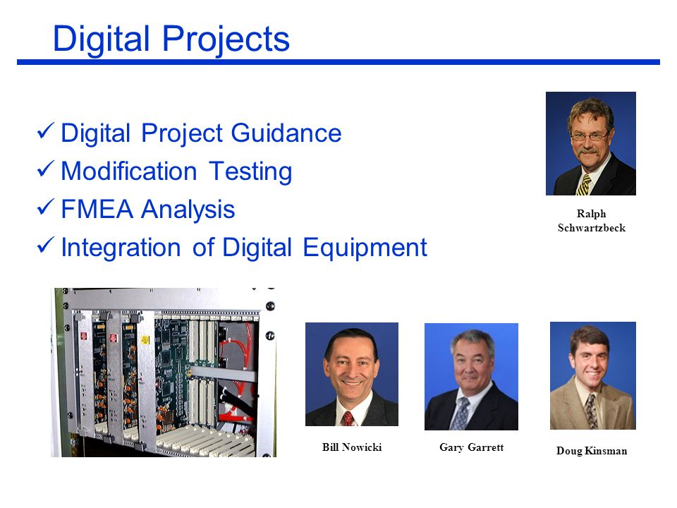 Digital Projects Digital Project Guidance Modification Testing