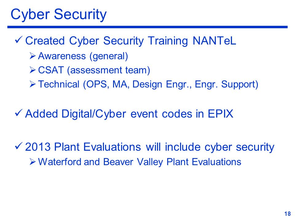 Cyber Security Created Cyber Security Training NANTeL
