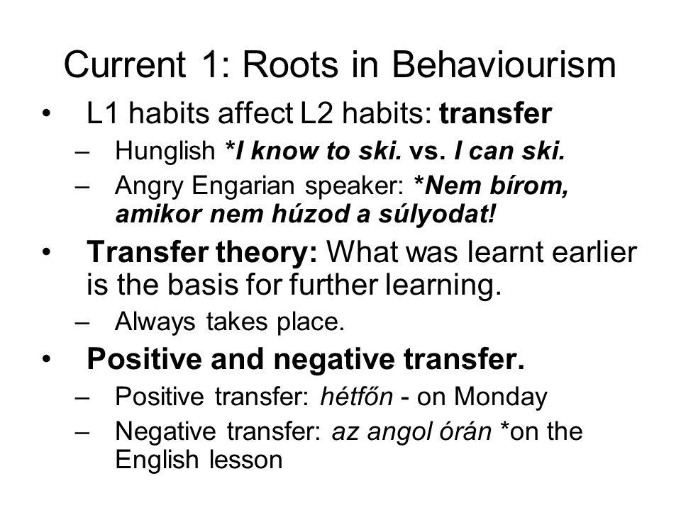 Current 1: Roots in Behaviourism