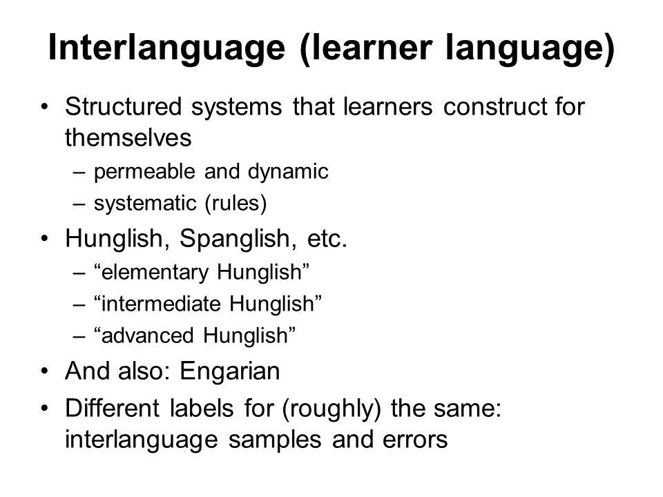 Interlanguage (learner language)