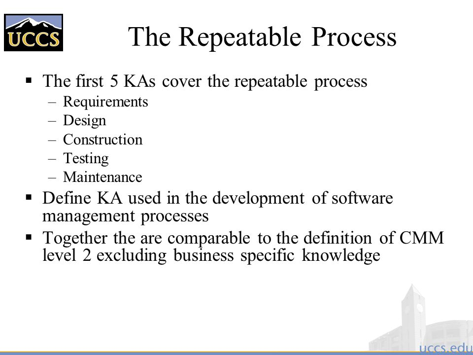The Repeatable Process