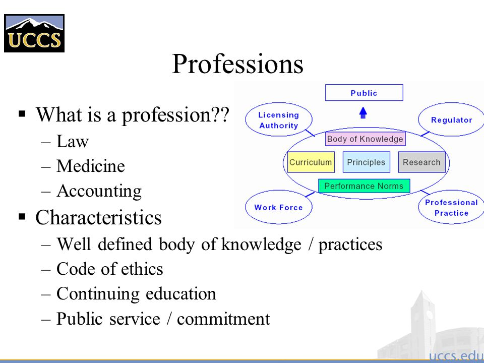 Professions What is a profession Characteristics Law Medicine