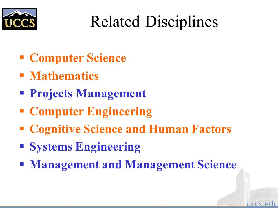 Related Disciplines Computer Science Mathematics Projects Management