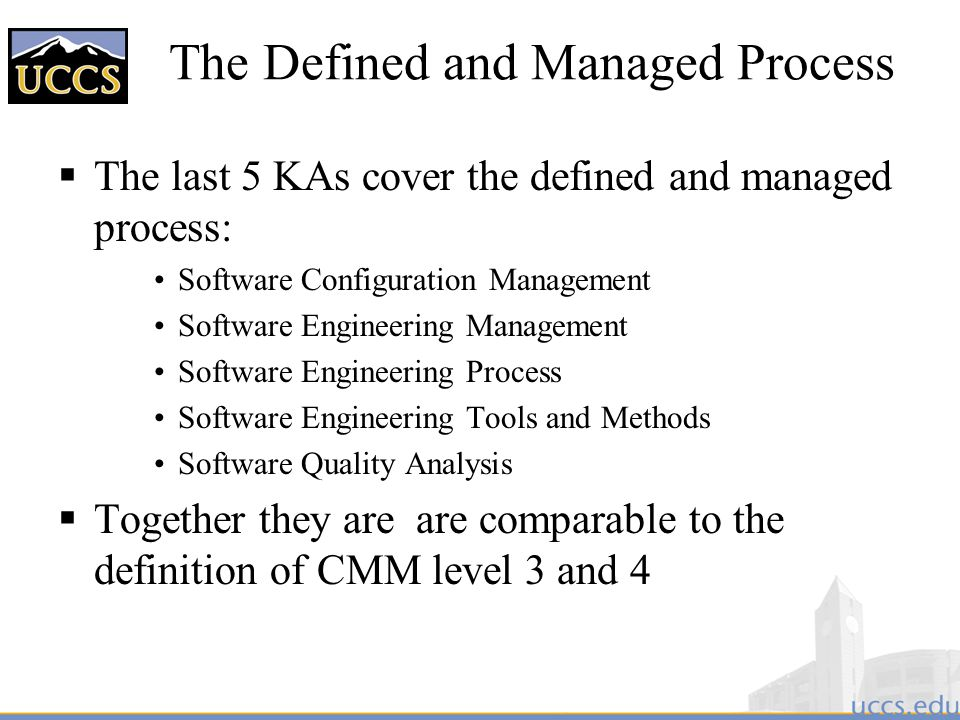 The Defined and Managed Process