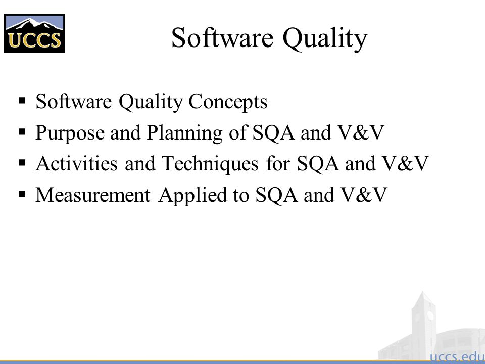 Software Quality Software Quality Concepts