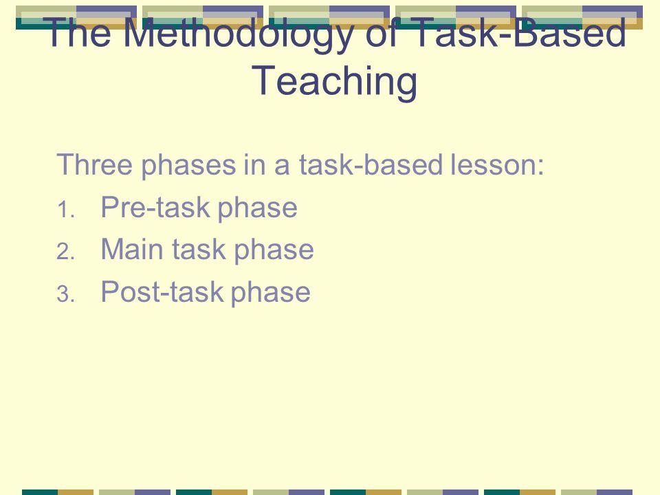 The Methodology of Task-Based Teaching