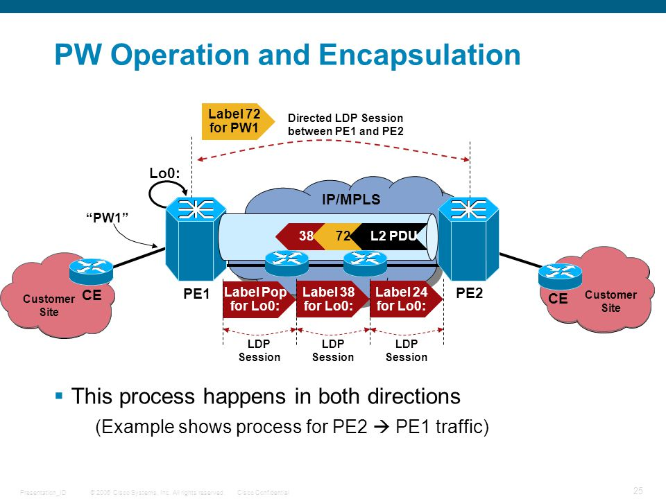 PW Operation and Encapsulation