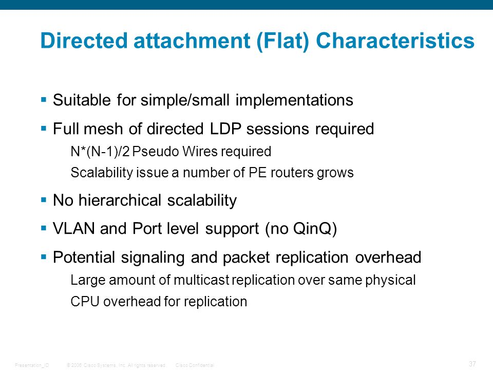 Directed attachment (Flat) Characteristics