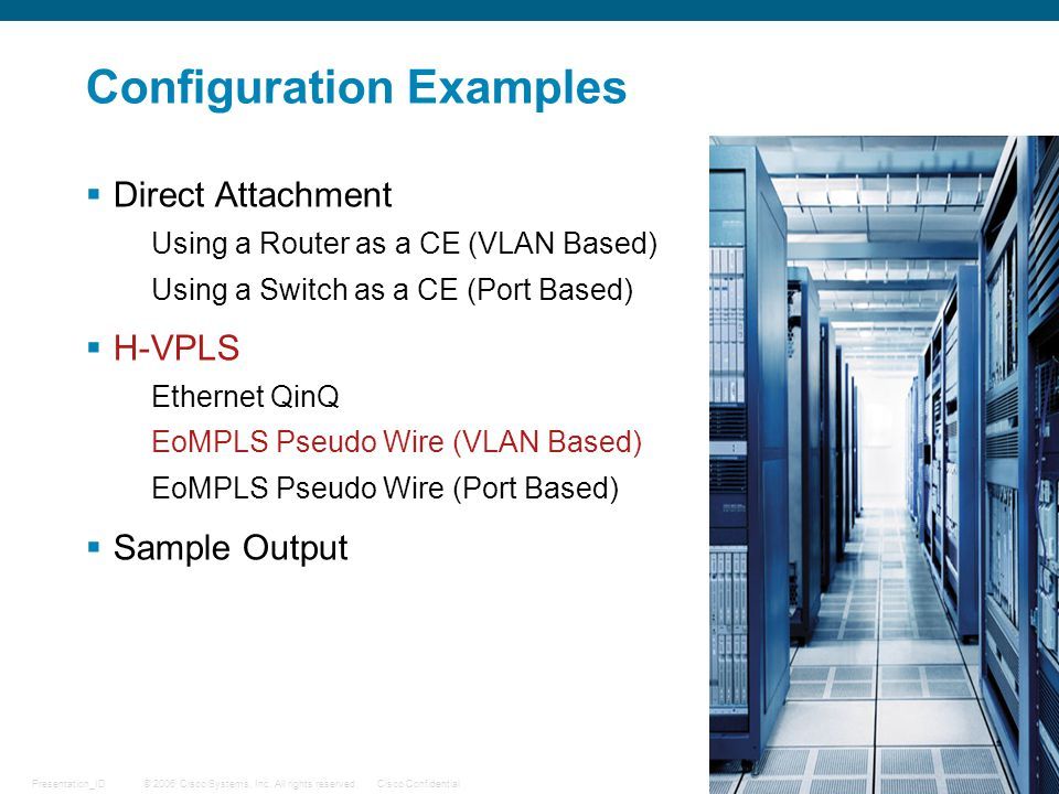 Configuration Examples